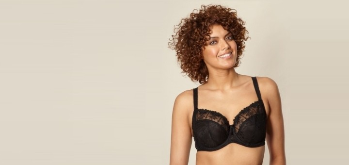 Gorgeous black embroidered mesh full cup bra from Debenhams.com