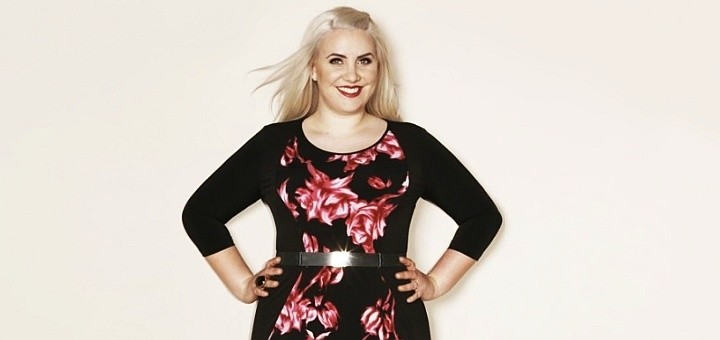 Claire Richards print illusion dress from Simply Be