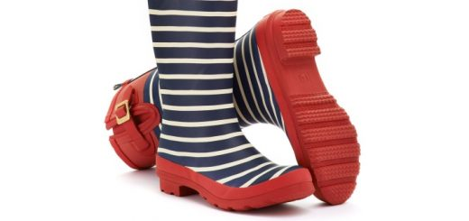 Stripy women's wellies from Joules