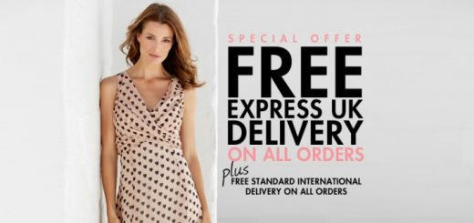 Free express delivery on UK orders at M&Co