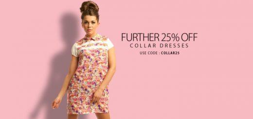 Shiloh Floral Collar Shift Dress at IKRUSH (£13)