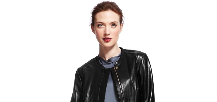 Autograph leather bomber jacket from Marks & Spencer
