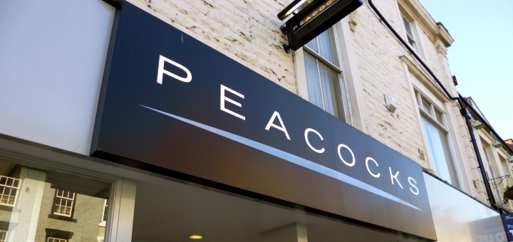 Peacocks store fascia