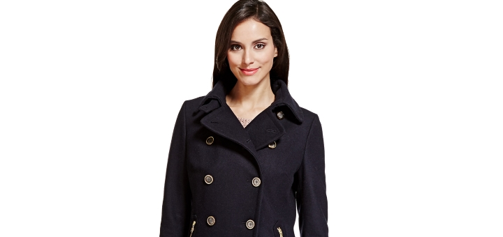 Per Una Wool Blend Pea Coat - £55 at M&S