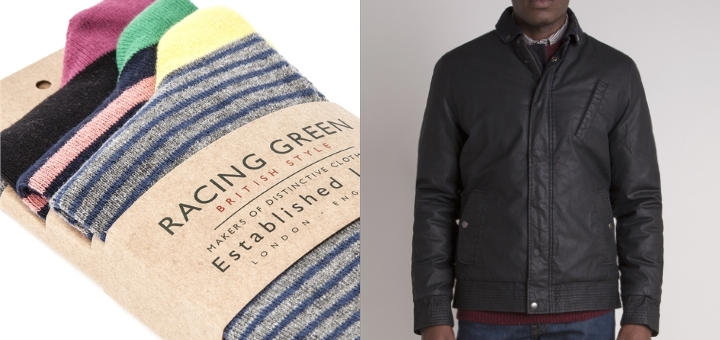 Socks and jacket from Racing Green