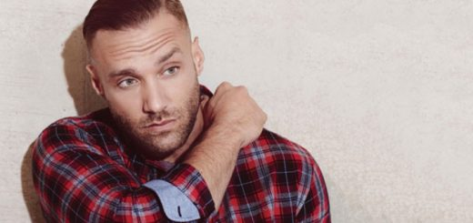 Calum Best models a checked shirt from the Burton Man AW15 range