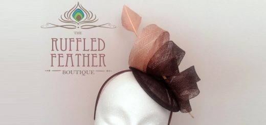 Sinamay fascinator from The Ruffled Feather Boutique