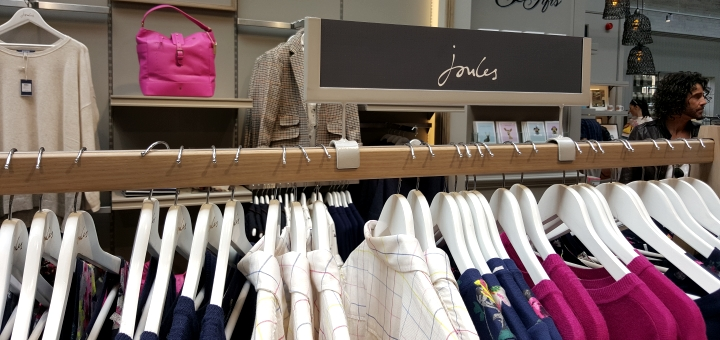 Joules at Sandersons department store, Sheffield. Photograph by Graham Soult