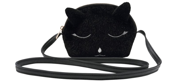 Girls' fluffy cat face bag from Kite and Cosmic at M&Co