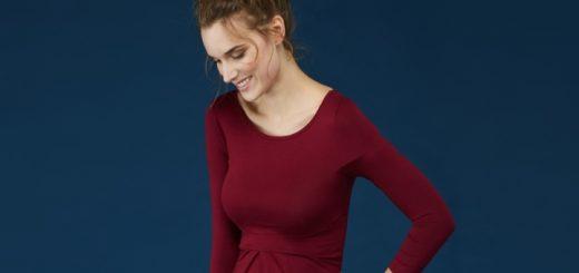 Ivybridge maternity dress in dark claret from Isabella Oliver