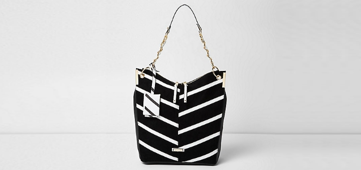 Black mono slouch bag, £35.00, River Island