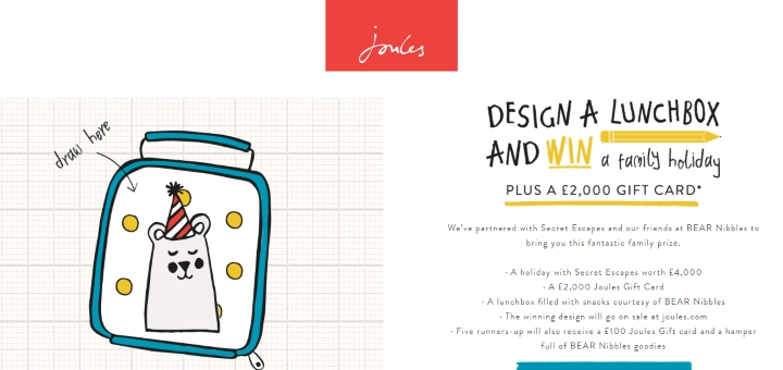 Joules lunchbox competition website