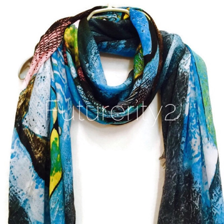 Cashmere scarf by Futurerity2 at Etsy