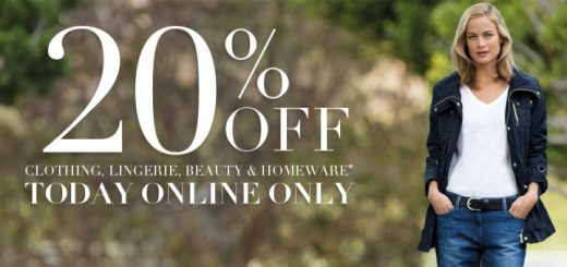 20% off clothing at Marks & Spencer online on 27 January 2014