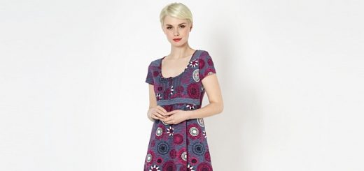 Mantaray grey floral spotted trim jersey dress at Debenhams.com
