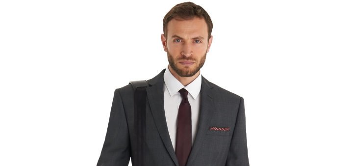 French Connection Slim Fit Grey Check Suit from Moss
