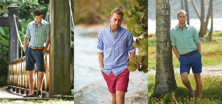 Men's classic bermuda shorts from Crew Clothing