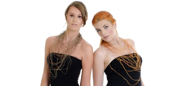 Jewellery by Kate Gorman Design, teamed with an LBD