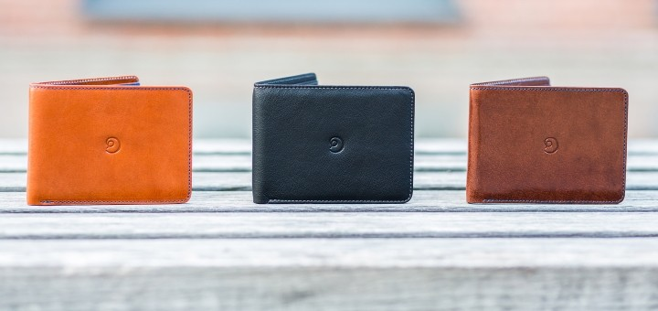 Danny P. slim wallet, in the three different styles