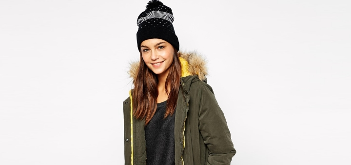Only Faux Fur Hooded Parka with Contrast Lining - £45 at Asos
