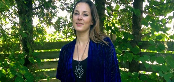 Velvet Kimono in Royal Blue at Halina Shearman Designs on Etsy