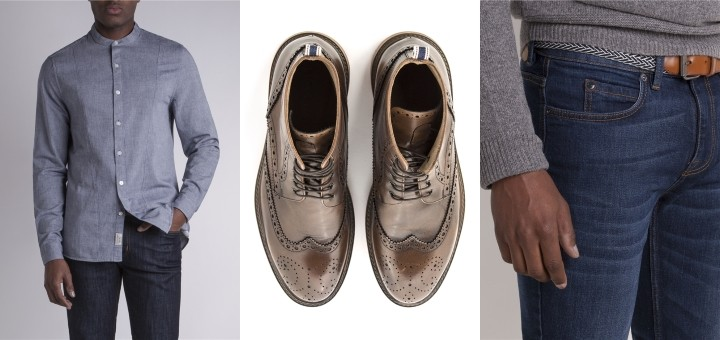 Shirt, brogues and jeans from Racing Green