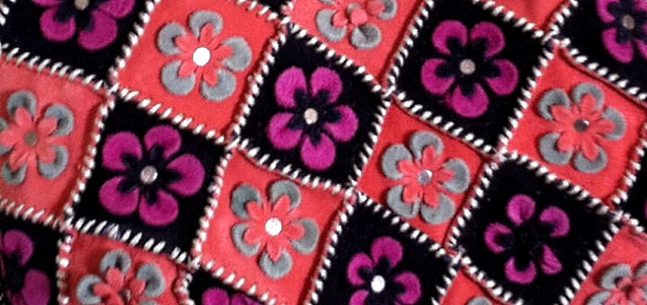 Handmade patchwork suede handbag at SaiGon With Love on Etsy