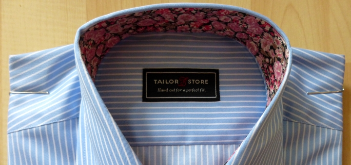 A final view of our bespoke shirt from Tailor Store