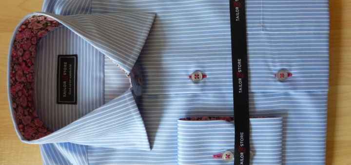 Our shirt from Tailor Store - looking very much like the on-screen mockup