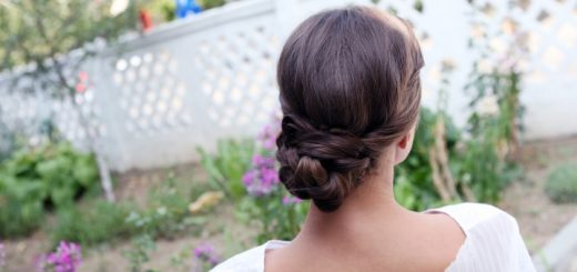 Wedding hairstyle with bun. Photograph by Caranica Nicolae