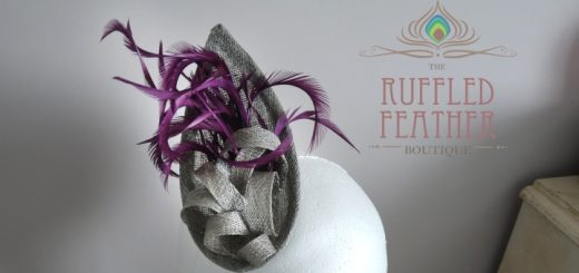 Sinamay Fascinator (Bliss) at The Ruffled Feather Boutique (£38.50)