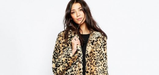 Brave Soul faux fur leopard coat at ASOS