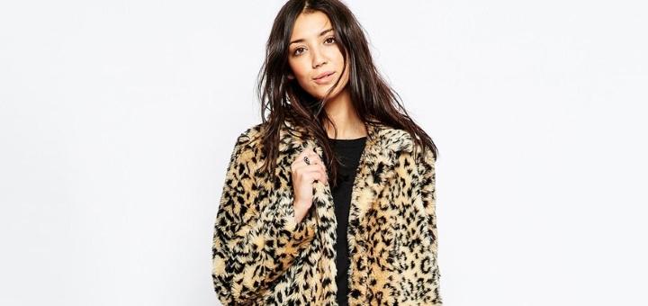 Brave Soul faux fur leopard coat at ASOS