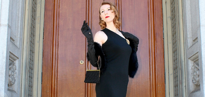 Doris Hobbs models vintage glamour