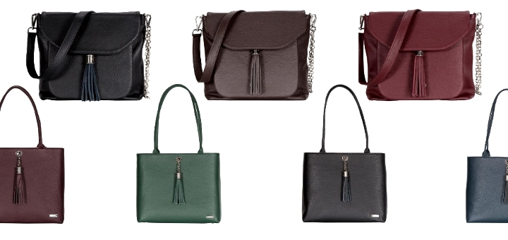 A selection of Aster and Poppy bags from VVA