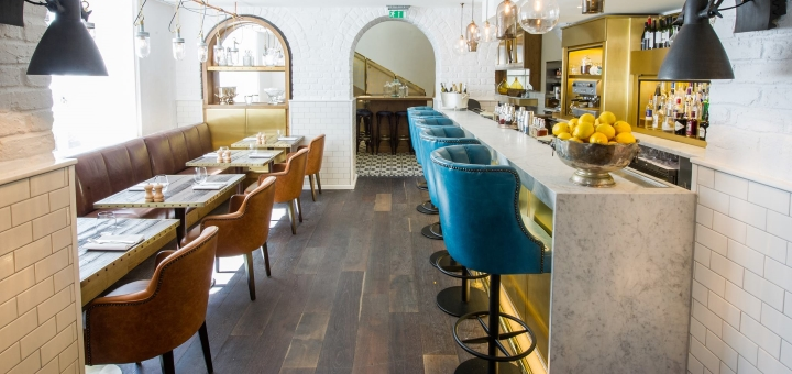 Bar at the Ampersand Hotel in London