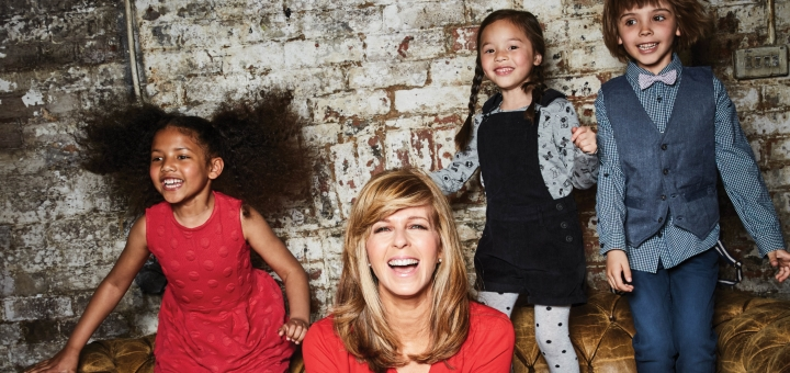 Kate Garraway with some of the pieces from the Kite and Cosmic range at M&Co