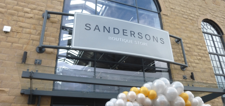 Front of Sandersons department store, Sheffield. Photograph by Graham Soult