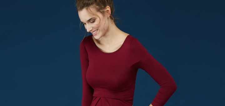 Ivybridge maternity dress in dark claret from Isabella Oliver