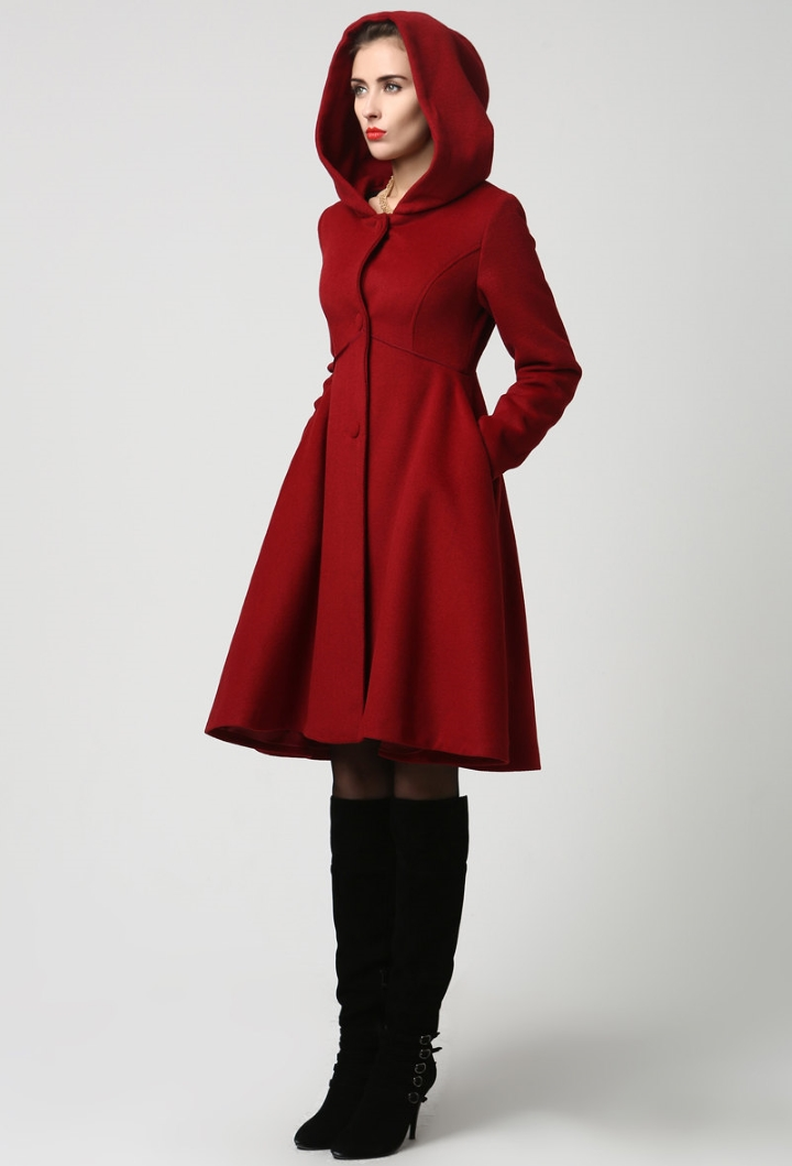 Red coat from Xiaolizi at Etsy