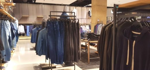 Menswear in Oxford Street's Reserved store. Photograph by Graham Soult