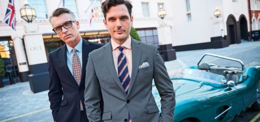 Suits - like these from Charles Tyrwhitt - still have a place in some work environments