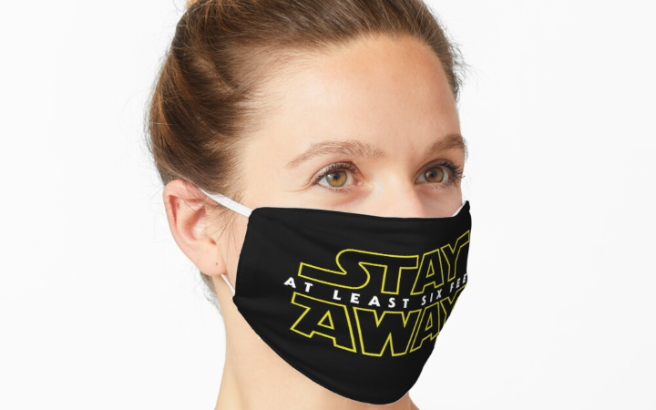 Stay Away Mask by DJKopet at Redbubble