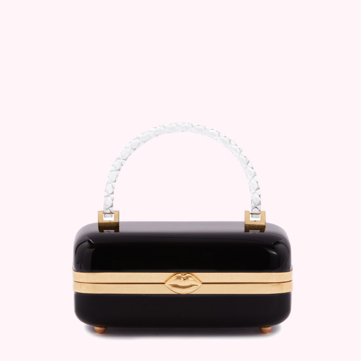 Black Fontaine Clutch by Lulu Guinness