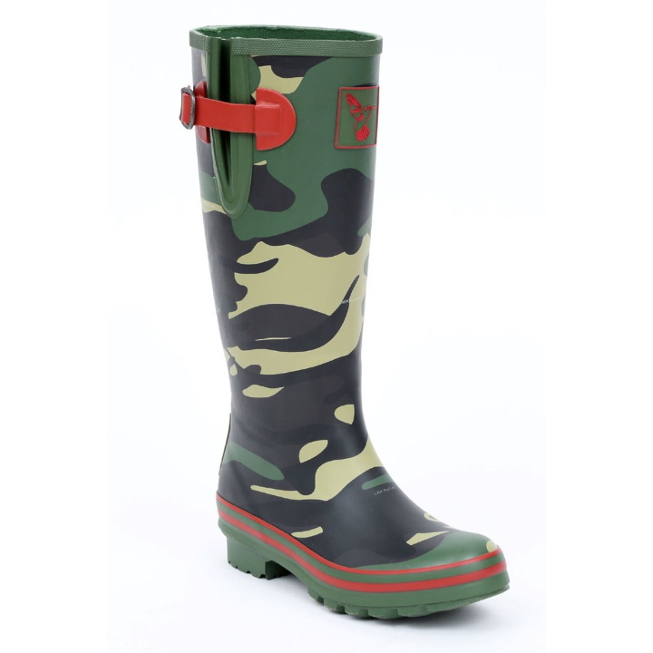 Evercreatures camouflage wellies at Funky Wellington Boots