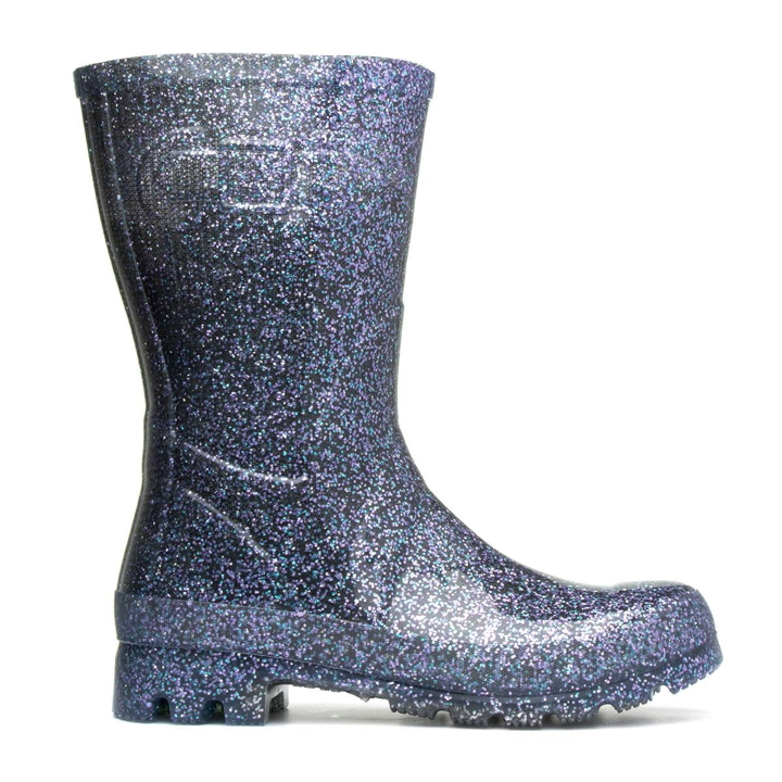 Women's Glitter Wellington Boot from Shoe Zone