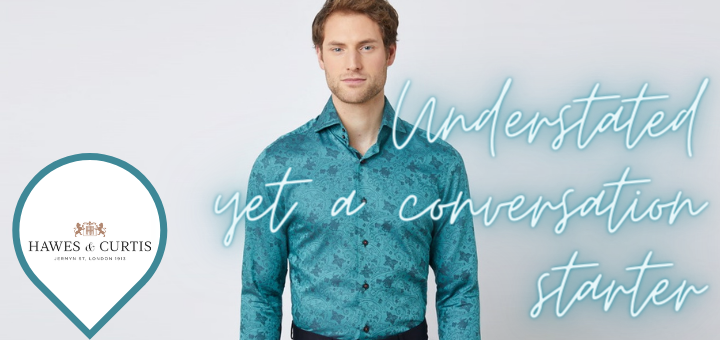 Dark Green Floral Relaxed Slim Fit Shirt – Hawes and Curtis
