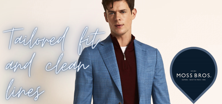 Tailored Fit Light Blue Check Suit – Moss Bros