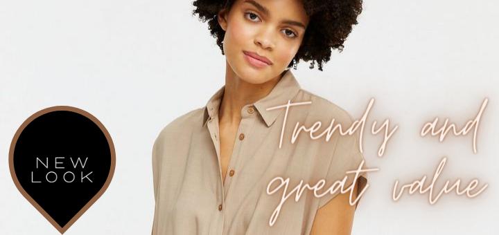 Stone Crosshatch Twist Front Shirt – New Look