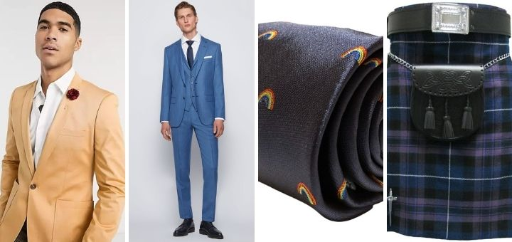 Stylish men's options from (left to right) Hugo Boss, ASOS, Etsy and Tartanista